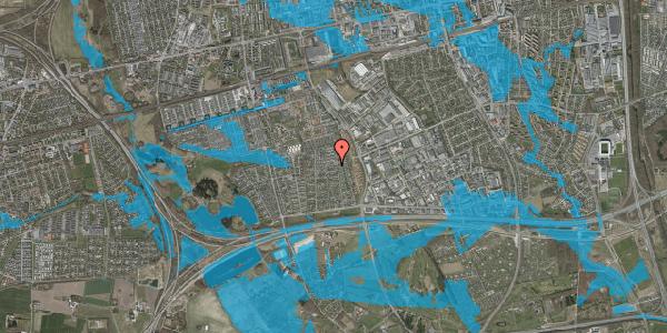 Oversvømmelsesrisiko fra vandløb på Syvhøjvænge 155, 2625 Vallensbæk