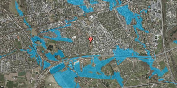 Oversvømmelsesrisiko fra vandløb på Syvhøjvænge 158, 2625 Vallensbæk