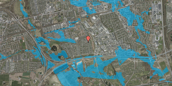 Oversvømmelsesrisiko fra vandløb på Syvhøjvænge 159, 2625 Vallensbæk