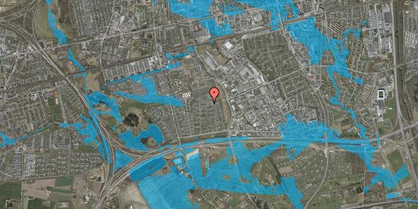 Oversvømmelsesrisiko fra vandløb på Syvhøjvænge 163, 2625 Vallensbæk