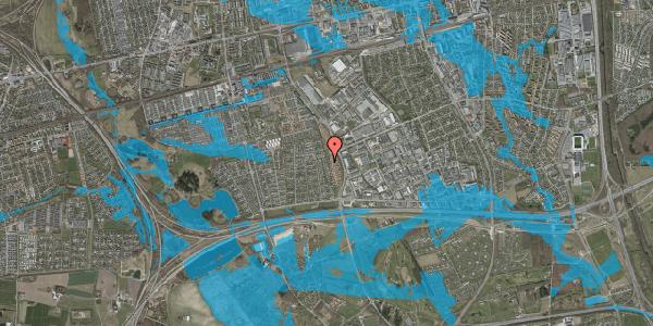 Oversvømmelsesrisiko fra vandløb på Syvhøjvænge 166, 2625 Vallensbæk
