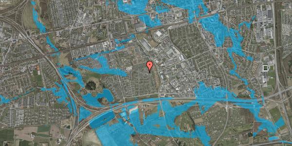 Oversvømmelsesrisiko fra vandløb på Syvhøjvænge 171, 2625 Vallensbæk