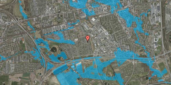 Oversvømmelsesrisiko fra vandløb på Syvhøjvænge 175, 2625 Vallensbæk