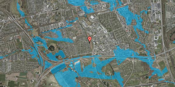 Oversvømmelsesrisiko fra vandløb på Syvhøjvænge 176, 2625 Vallensbæk