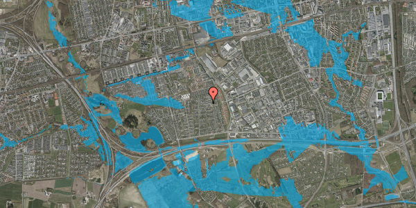 Oversvømmelsesrisiko fra vandløb på Syvhøjvænge 177, 2625 Vallensbæk