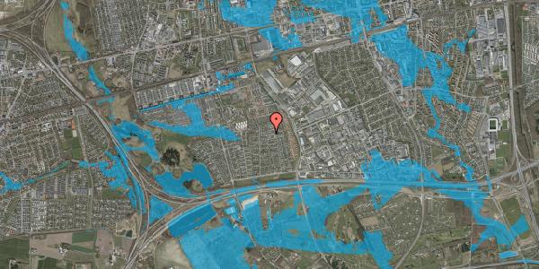 Oversvømmelsesrisiko fra vandløb på Syvhøjvænge 179, 2625 Vallensbæk