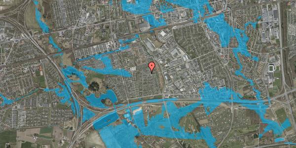Oversvømmelsesrisiko fra vandløb på Syvhøjvænge 181, 2625 Vallensbæk