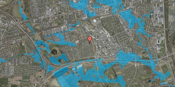 Oversvømmelsesrisiko fra vandløb på Syvhøjvænge 183, 2625 Vallensbæk