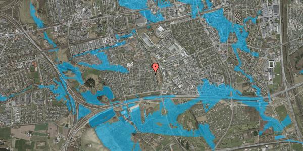 Oversvømmelsesrisiko fra vandløb på Syvhøjvænge 184, 2625 Vallensbæk