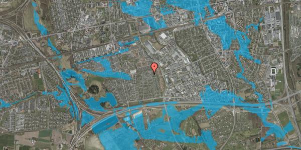 Oversvømmelsesrisiko fra vandløb på Syvhøjvænge 185, 2625 Vallensbæk
