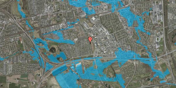 Oversvømmelsesrisiko fra vandløb på Syvhøjvænge 186, 2625 Vallensbæk