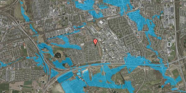 Oversvømmelsesrisiko fra vandløb på Syvhøjvænge 187, 2625 Vallensbæk