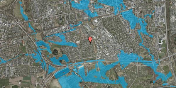 Oversvømmelsesrisiko fra vandløb på Syvhøjvænge 189, 2625 Vallensbæk
