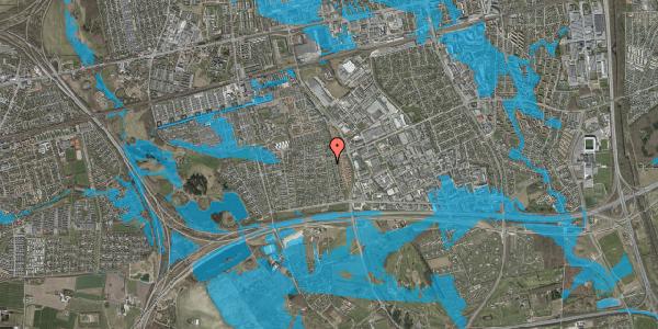 Oversvømmelsesrisiko fra vandløb på Syvhøjvænge 190, 2625 Vallensbæk