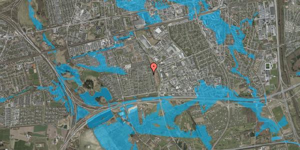 Oversvømmelsesrisiko fra vandløb på Syvhøjvænge 192, 2625 Vallensbæk