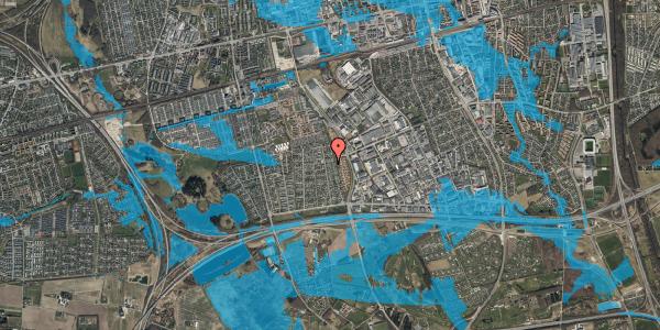 Oversvømmelsesrisiko fra vandløb på Syvhøjvænge 194, 2625 Vallensbæk