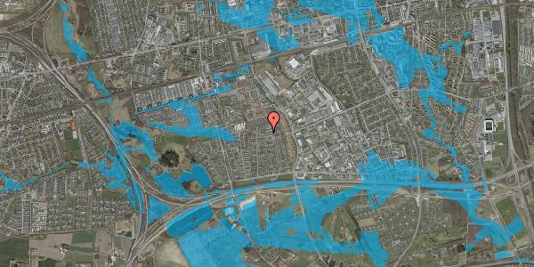 Oversvømmelsesrisiko fra vandløb på Syvhøjvænge 195, 2625 Vallensbæk