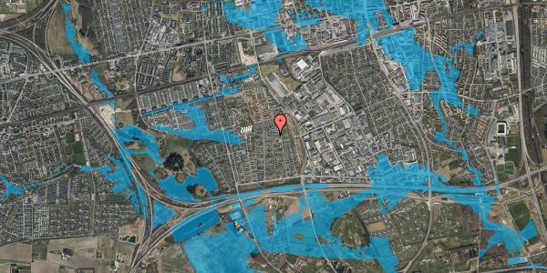 Oversvømmelsesrisiko fra vandløb på Syvhøjvænge 197, 2625 Vallensbæk