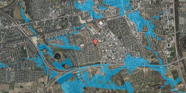 Oversvømmelsesrisiko fra vandløb på Syvhøjvænge 199, 2625 Vallensbæk
