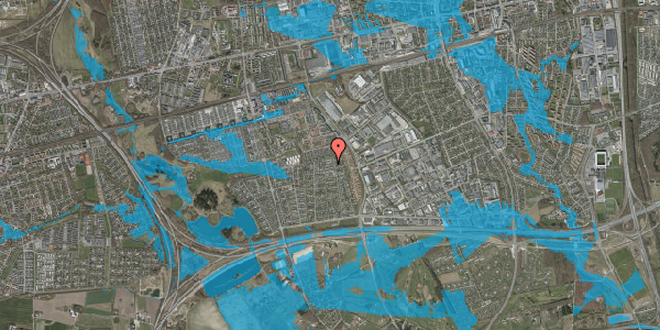 Oversvømmelsesrisiko fra vandløb på Syvhøjvænge 203, 2625 Vallensbæk