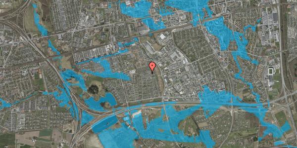 Oversvømmelsesrisiko fra vandløb på Syvhøjvænge 205, 2625 Vallensbæk