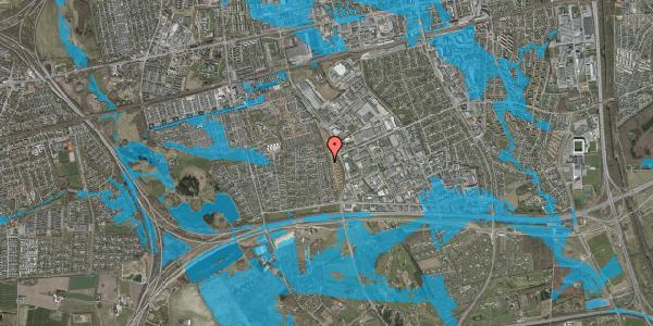Oversvømmelsesrisiko fra vandløb på Syvhøjvænge 206, 2625 Vallensbæk