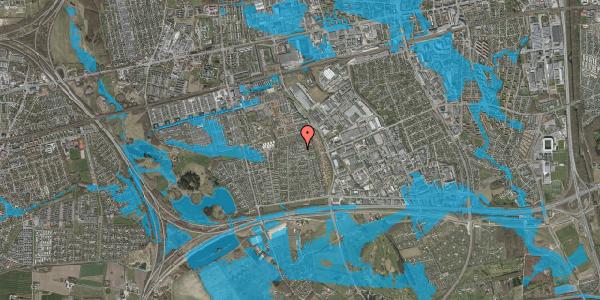 Oversvømmelsesrisiko fra vandløb på Syvhøjvænge 207, 2625 Vallensbæk