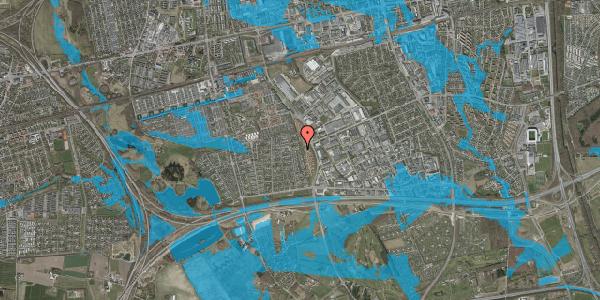 Oversvømmelsesrisiko fra vandløb på Syvhøjvænge 208, 2625 Vallensbæk