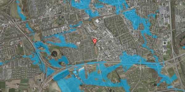 Oversvømmelsesrisiko fra vandløb på Syvhøjvænge 212, 2625 Vallensbæk