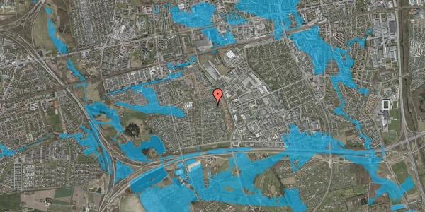 Oversvømmelsesrisiko fra vandløb på Syvhøjvænge 213, 2625 Vallensbæk