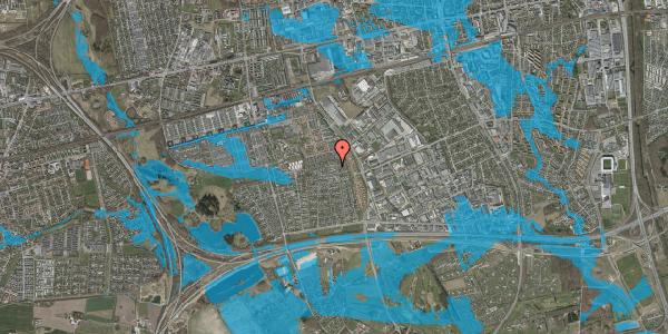 Oversvømmelsesrisiko fra vandløb på Syvhøjvænge 215, 2625 Vallensbæk