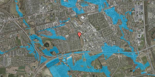 Oversvømmelsesrisiko fra vandløb på Syvhøjvænge 220, 2625 Vallensbæk