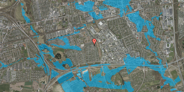 Oversvømmelsesrisiko fra vandløb på Syvhøjvænge 221, 2625 Vallensbæk