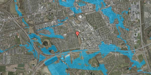 Oversvømmelsesrisiko fra vandløb på Syvhøjvænge 222, 2625 Vallensbæk