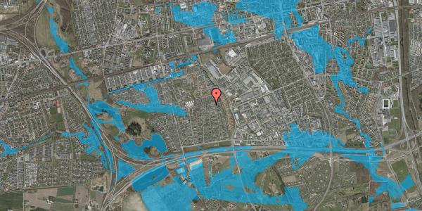 Oversvømmelsesrisiko fra vandløb på Syvhøjvænge 223, 2625 Vallensbæk