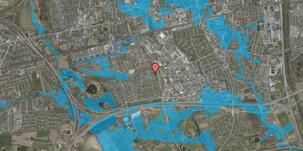 Oversvømmelsesrisiko fra vandløb på Syvhøjvænge 224, 2625 Vallensbæk