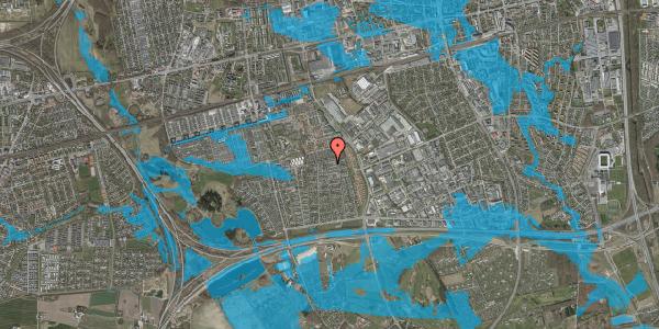 Oversvømmelsesrisiko fra vandløb på Syvhøjvænge 225, 2625 Vallensbæk