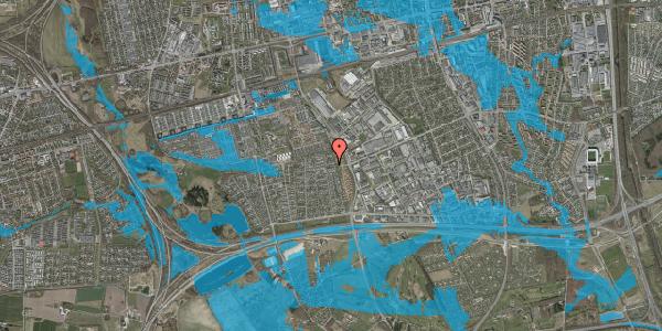 Oversvømmelsesrisiko fra vandløb på Syvhøjvænge 228, 2625 Vallensbæk