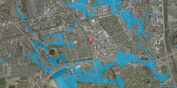 Oversvømmelsesrisiko fra vandløb på Syvhøjvænge 230, 2625 Vallensbæk