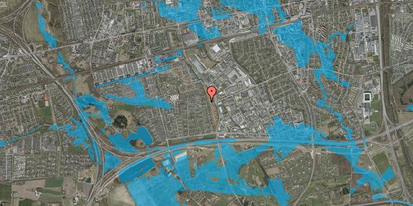 Oversvømmelsesrisiko fra vandløb på Syvhøjvænge 232, 2625 Vallensbæk