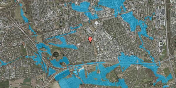 Oversvømmelsesrisiko fra vandløb på Syvhøjvænge 233, 2625 Vallensbæk