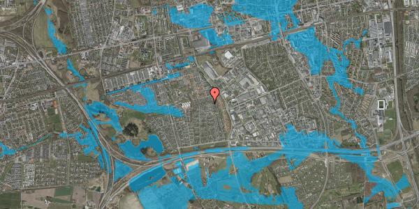 Oversvømmelsesrisiko fra vandløb på Syvhøjvænge 237, 2625 Vallensbæk