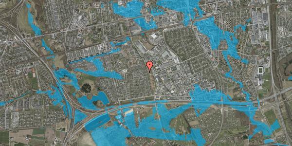 Oversvømmelsesrisiko fra vandløb på Syvhøjvænge 238, 2625 Vallensbæk
