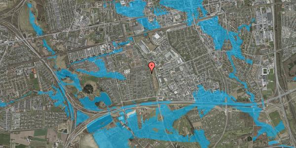Oversvømmelsesrisiko fra vandløb på Syvhøjvænge 240, 2625 Vallensbæk