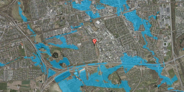 Oversvømmelsesrisiko fra vandløb på Syvhøjvænge 242, 2625 Vallensbæk