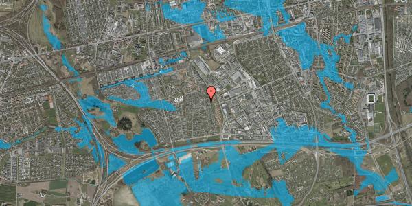 Oversvømmelsesrisiko fra vandløb på Syvhøjvænge 244, 2625 Vallensbæk