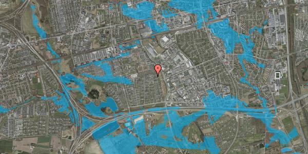 Oversvømmelsesrisiko fra vandløb på Syvhøjvænge 248, 2625 Vallensbæk