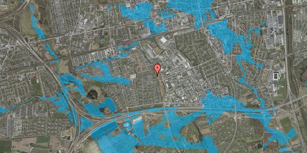 Oversvømmelsesrisiko fra vandløb på Syvhøjvænge 252, 2625 Vallensbæk