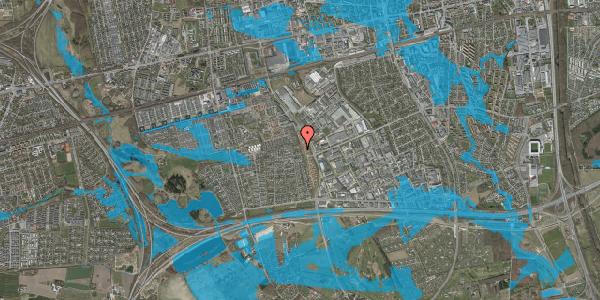 Oversvømmelsesrisiko fra vandløb på Syvhøjvænge 258, 2625 Vallensbæk