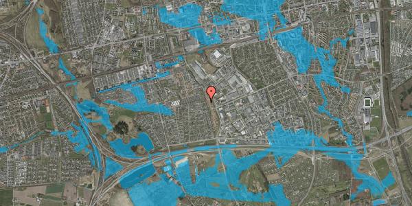 Oversvømmelsesrisiko fra vandløb på Syvhøjvænge 260, 2625 Vallensbæk
